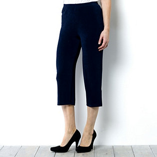 Kim & Co Crop Trousers with Side Split