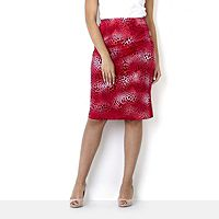 107822  Kim & Co Animal Elegance Pencil Skirt
