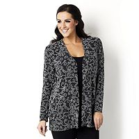 105426  Allure Long Sleeve Cardigan by Michele Hope