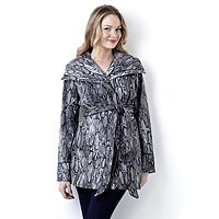 106738  Dennis Basso Water Resistant Microfibre Animal Print Jacket