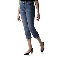 151860  Diane Gilman Animal Print Cuff Jean