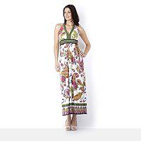 107461  Ronni Nicole O So Slim Paisley Halter Neck Maxi Dress