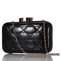 103869  Lulu Guinness Quilted Lips Leather Fifi Clutch