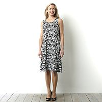 101776  Printed Round Neck Sleeveless Dress by Susan Graver