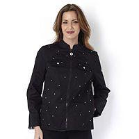 106286  Quacker Factory Reversible Sparkle Jacket