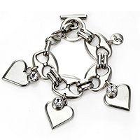 301538  Bibi Bijoux Heart Crystal Link Bracelet