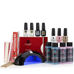 Red Carpet Manicure Gel Nail Kit With LED Lamp