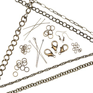 Antique Tone Chain and Findings Kit