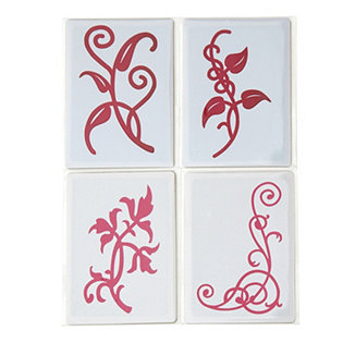 Set of 4 Leaf & Scroll Double Do Dies