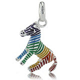 Links of London Rainbow Zebra Charm Sterling Silver