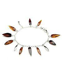 607724  Amber Tassel Bracelet Sterling Silver