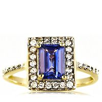 605539  0.9ct AAA Tanzanite & 0.3ct Diamond Ring 18ct Gold