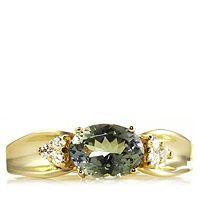 608042  1.5ct Green Tanzanite & Diamond Ring 9ct Gold