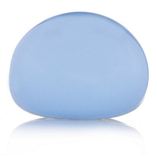 L'una Blue Statement Enamel Dome Ring Sterling Silver
