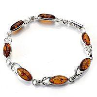 608543  Amber Knot Detail Bracelet Sterling Silver