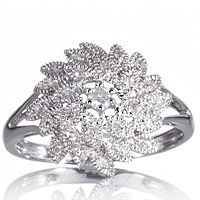 605346  0.16ct Diamond Cluster Ring 9ct White Gold