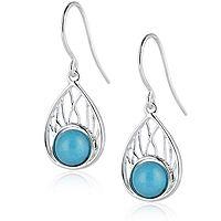 608451  Sleeping Beauty Turquoise Drop Earrings Sterling Silver