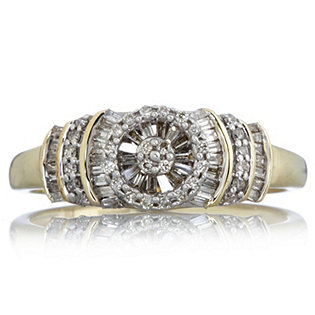 0.4ct Diamond Circle Ring 9ct Gold
