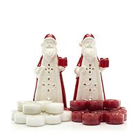 701524  Yankee Candle Set of 2 Santa T Light Holders & 24 T Lights