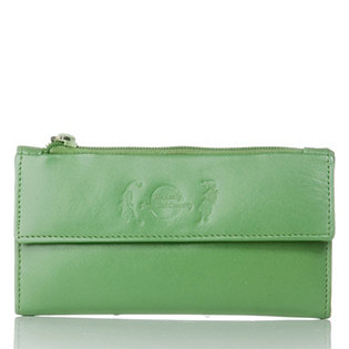 Feng Shui Green Leather Fortune Purse - 732040 | QVCUK.com