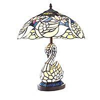 801507  Tiffany Style Swan Lake Table Lamp