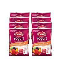 831528  EasiYo Pack of 8 Peaches & Cream Yoghurt