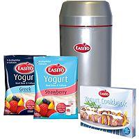 832944  EasiYo Silver Yoghurt Maker with 2 Yoghurt Sachets & Cookbook