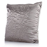 Kelly Hoppen Lace Design Quilted Velvet & Faux Silk Cushion 50