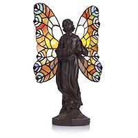 801558  Tiffany Style Butterfly Dancer Novelty Lamp