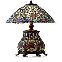 801263  Tiffany Style Rose Bouquet Table Lamp
