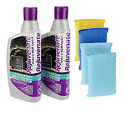 Rejuvenate Set of (2) 16 oz. Cooktop Cleaners with 4 Scrub Pads - V32020