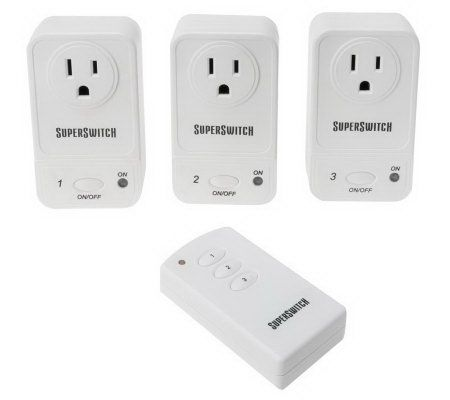 Remote Control Outdoor Wall Lights : Wireless SuperSwitch Wall Outlets with Remote Control QVC.com