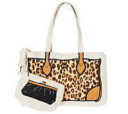 Ships 5/25 Jill Martin Red Carpet Leopard Tote with Clutch - V32173